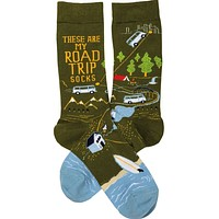 These Are My Road Trip Socks Colorful Funny Novelty Socks with Cool Design, Bold/Crazy/Unique Specialty Dress Socks