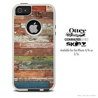 The Vintage Wood Planks Skin For The iPhone 4-4s or 5-5s Otterbox Commuter Case