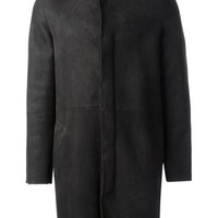 Salvatore Santoro Shearling Collar Coat - Shuga Palace - Farfetch.com