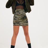 Khaki Camo Mini Skirt