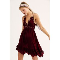 Adella Slip Dress Wine