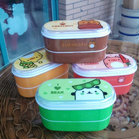 High Quality Cartoon Healthy Plastic Lunch Box 600ml Bento Boxes Food Container Dinnerware Lunchbox Cutlery with Chopsticks