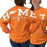 Tennessee Volunteers Vols Women's Home Spirit Jersey Long Sleeve Oversized Top Shirt
