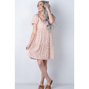 Pink and Ivory Leopard Dress