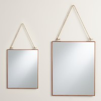 Copper Rectangular Metal Reese Mirror