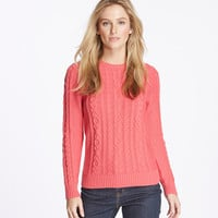 Women's Double L Mixed Cable Sweater, Crewneck | Free Shipping at L.L.Bean