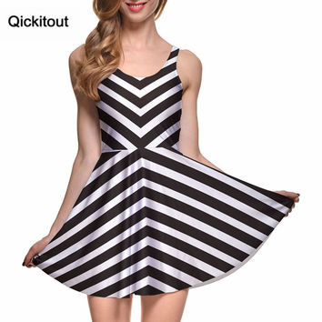Spring Hot Sexy Women Clothing Runway Female Dresses BEETLEJUICE REMIX SCOOP SKATER DRESS Pleated Drop Shipping S119-101