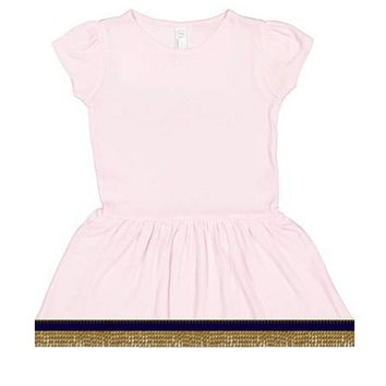 Infant Baby Girls Short Sleeve Pink Dress With Fringes