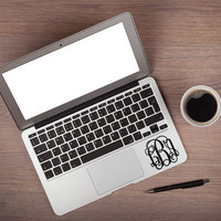 Monogram Decal Personalize DIY Laptop Sticker Laptop Decal Three Initial Decal Monogram Sticker 2 inch up to a 4 inch