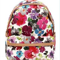 Flora Print Backpack QSN854 from topsales