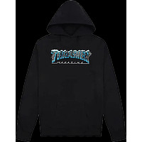 Thrasher Black Ice Hood Hoody Sweater Medium Black Skateboard