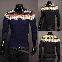 Vintage Design Men Knit Sweater