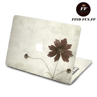 back cover decal mac pro decals stickers sticker Apple Mac laptop vinyl 3M surprise gift for her him beautiful 素雅花2-076