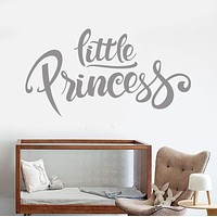 Vinyl Wall Decal Little Princess Words Nursery Girls Room Decor Stickers Unique Gift (1104ig)
