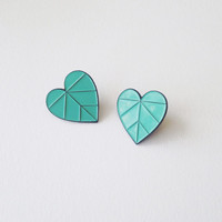 Heart Leaf Enamel Pin