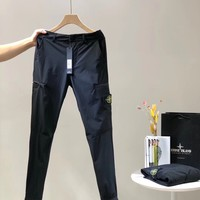 """""""Stone Island """" Men Casual Letter Print Pocket Sweatpants Couple Thickened Leisure Pants Trousers"""
