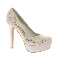 New Look Triangle Studded Heeled Shoes
