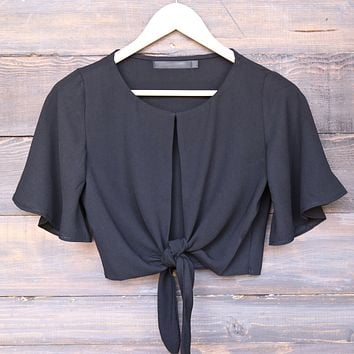 key to my heart front tie crop top - more colors