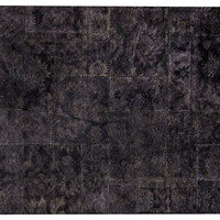Gandia Rug, Black/Dark Eggplant, Area Rugs
