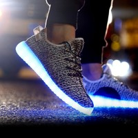 Grey Knit LED Light Up Shoes   Festival Shoes from RaveReady