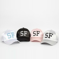 Trendy Winter Jacket Summer New Pattern Hats &amp caps women SF Letter White Baseball dad Hat Leisure Cap bone masculino snapback casquette gorras AT_92_12