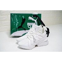 Puma Muse Echo Satin EP ¡°Triple White¡± Sneaker 365522-01