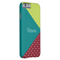 Monogram Teal, Red. Apple Polka Dots, Color Block Barely There iPhone 6 Case