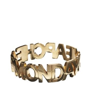 Cheap Monday Letter Bracelet