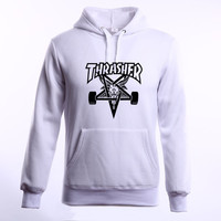 Thrasher Hoodie Men Streetwear Tracksuit pull Skate Sudaderas Mens hoodies and sweatshirt magazine
