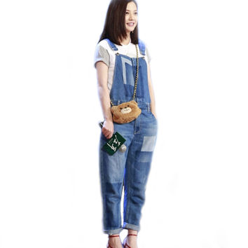Ripped Jeans Jumpsuits New Jeans for Womens Vicki Same Boyfriend Fall Fashion Brand Loose Casual Rompers