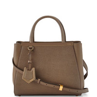 Fendi 2Jours Petite Shopping Tote Bag, Brown