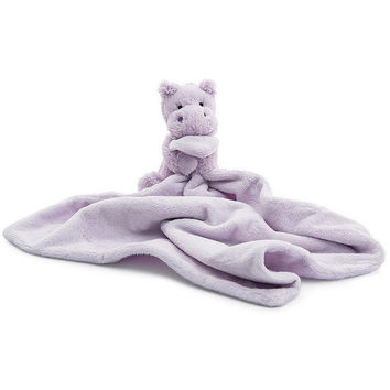 """Jellycat Bashful Lilac Hippo Soother 13"""""""
