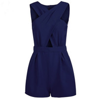 Fashion Women V-Neck Playsuit Bodycon Rompers  Clubwear Party Playsuits