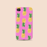Fashion Trends Pink Pineapple pattern Plastic Hard Case - iphone 5 - iphone 4 - iphone 4s - Samsung S3 - Samsung S4 - Samsung Note 2