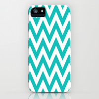 Chevronzag in Teal iPhone & iPod Case by House of Jennifer