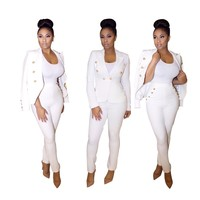 Slaying the Day Away ~ Button Down Blazer Pant Suit