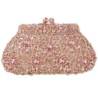 Fawziya Sun Flower Luxury Clutches Rhinestone Crystal Clutch Bag