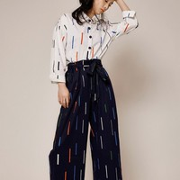 DMD Unisex Abstract Print Wide Leg Pants