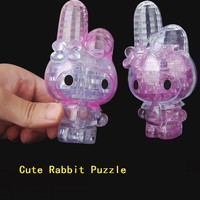 Super Cute 3D Crystal puzzle Rabbit 38 Pieces