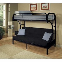 Acme Eclipse Twin XL/Queen/Futon Bunk Bed, Black