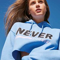BDG Never Forever Cropped Hoodie Sweatshirt - Urban Outfitters
