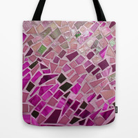 Little Pink Tiles Tote Bag by Intrinsic Journeys