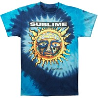 Sublime Men's  40 Oz To Freedom Blue Tie Dye Tie Dye T-shirt Blue
