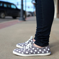 Keds Champion Glitter Dot Sneakers {Grey} Women's | WF52158