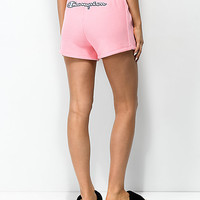 Champion Reverse Weave Embroidered Pink Shorts | Zumiez