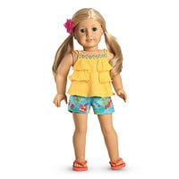 American Girl® Clothing: Sunny Isle Outfit for Dolls + Charm