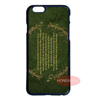 Lord of Rings Writing Hard Case for LG Samsung S2 S3 S4 S5 Mini S6 Edge Plus Note 2 3 4 5 iPhone 4 4S 5 5S 5C 6 6S Plus iPod 4 5