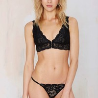 Clo Intimo Fortuna Lace Thong - Black