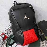Jordan New fashion people backpack bag book bag handbag Black