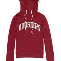 Indiana University Bling Funnel-neck Hoodie - PINK - Victoria's Secret